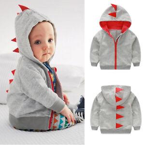 811860f72 Image is loading Newborn-Toddler-Baby-Boy-Girl-Dinosaur-Pattern-Hooded-