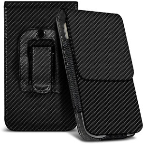 For-ZTE-Blade-A506-Carbon-Fibre-Belt-Pouch-Holster-Case-Cover