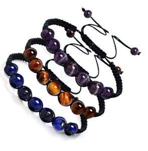Hot-7-Chakra-Healing-Balance-Beaded-Bracelet-Braided-Stone-Yoga-Reiki-Prayer