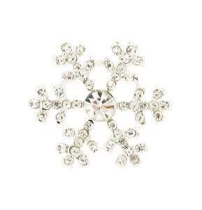 Snowflake-Strass-Ornamento-Argentato-con-Strass-CARD-TOPPER-NOZZE-CRISTALLO