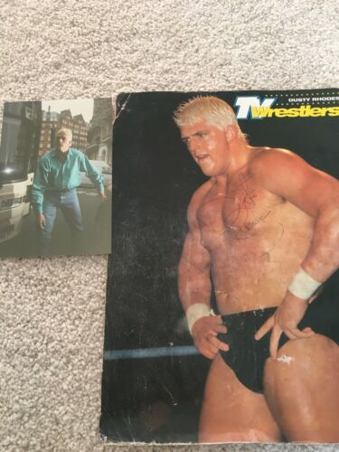 Original WWF signed wrestling poster by Dustin Rhodes