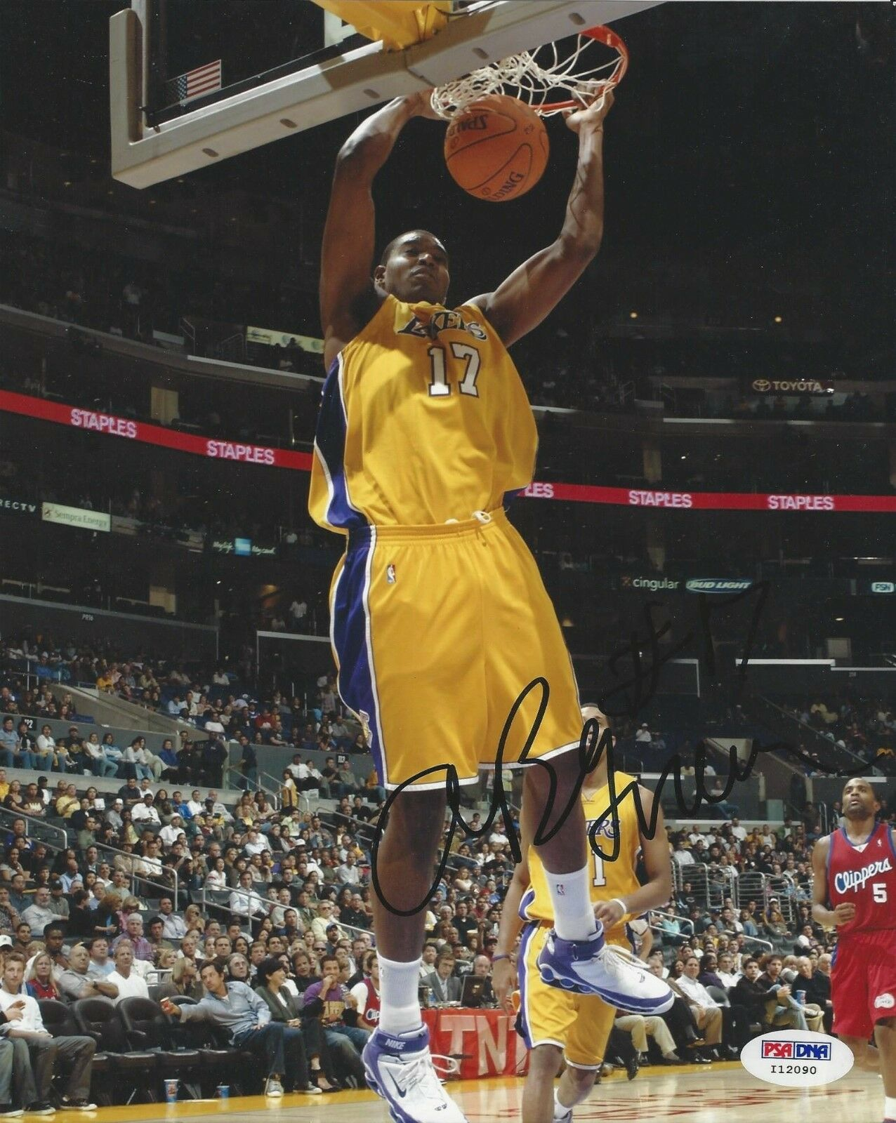 Andrew Bynum Los Angeles Lakers signed 8x10 photo PSA/DNA #I12090