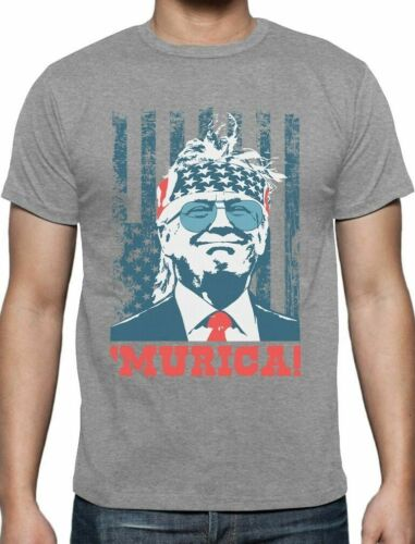 Donald Trump Murica 4th of July Patriotic American Party USA T-Shirt Flag