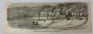 1885-Revista-Grabado-Madera-Flume-y-Carbon-Furnaces-Hilliard-Wyoming