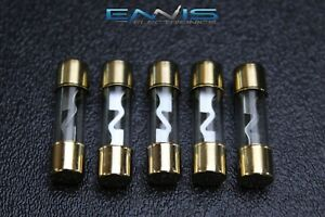 s l300 5 pack 60 amp agu fuse fuses gold plated inline high quality glass