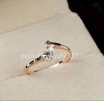 Fashion Women 18K Rose gold GP  Engagement Ring Size 6,7,8,9