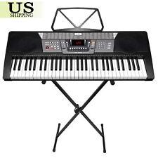 61 Key Electronic Piano Keyboard Music Key Board Organ With X Stand Heavy Duty