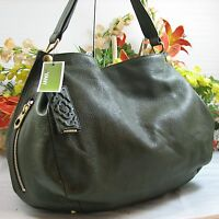Gorgeous Oryany Kerry Large Green Pebbled Leather Shoulder Bag