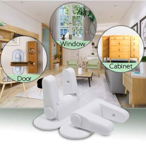 2018 Door Lever Lock Child Toddler Proof Safety Doors Handles 3M Adhesive 4 Pack