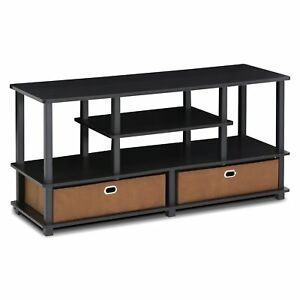 Furinno 15119exbkbr Jaya Large Tv Stand For Up To 50 Inch Tv With