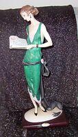 "Giuseppe Armani ""Lady With Book"" Figurine # 384C 1987 RETIRED"