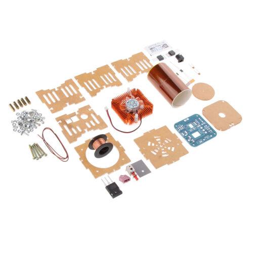Kinder Mini Drehende Musik Tesla Spule Plasma Drahtlose Übertragung DIY Kits