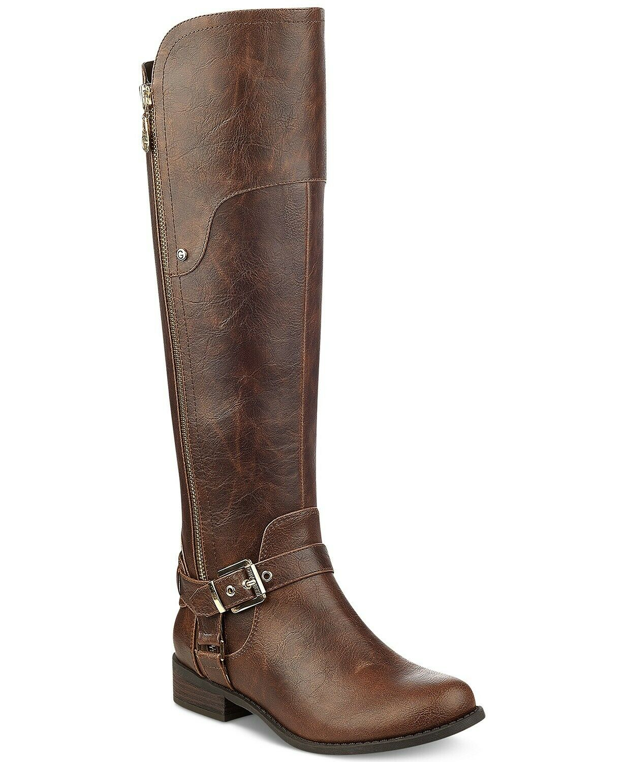 G by Guess Women's Hardson Closed Toe Knee High Fashion Boots-9.5 M Brown