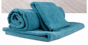 NORWEX-3-PC-Set-of-teal-bath-mat-body-cloth-amp-teal-bath-towel-NEW