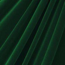 "Hunter Green Velvet Flocking Drapery Upholstery Fabric - Sold By The Yard - 60"""