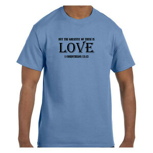 Christian Tshirt Greatest of These is Love I Corinthians 13:13 Short/Long Sleeve