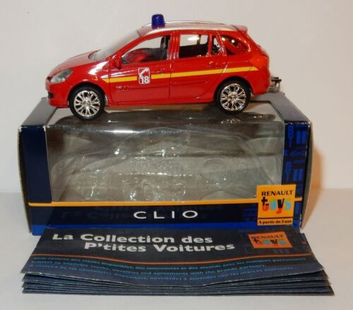 NOREV 3 INCHES 1//64 RENAULT CLIO SPORT 2005 2006 2007 POMPIERS POLICE au choix