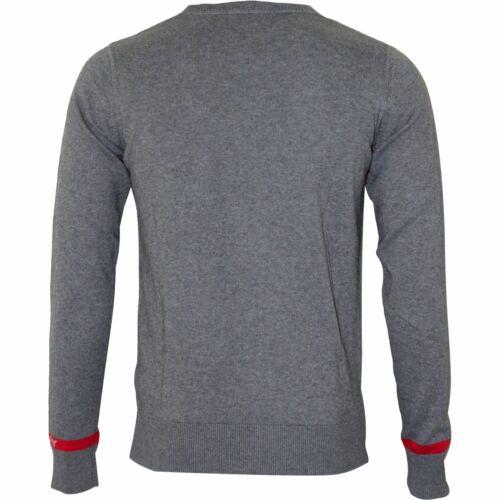 Replay Fine Wool Blend Crew-Neck Men/'s Jumper Mid Grey