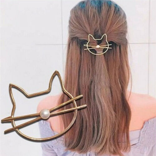 Hot Hollow Cat Hair Clip Barrettes Girls Lovely Hair Accessary Jewelry Gift  Lh