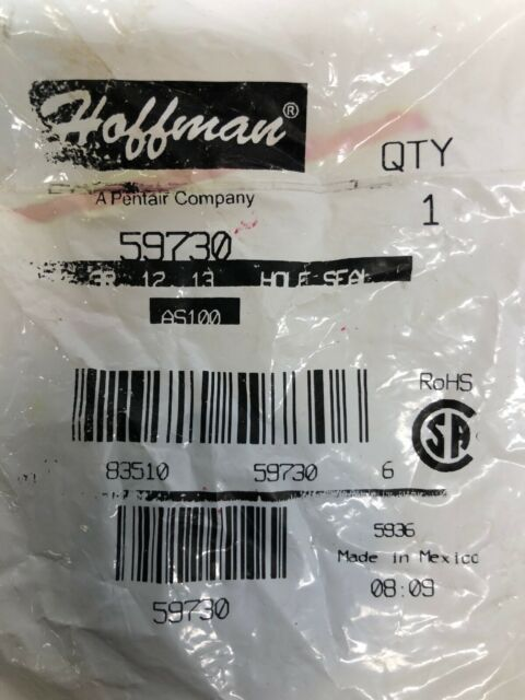 PK OF 10 HOFFMAN AS100 HOLE SEAL *NEW IN FACTORY BAG*