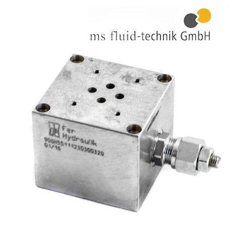 Einfach Anschlussplatte mit DBV Lochbild NG 6 Hydraulik Wegeventile