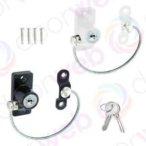 Image is loading UPVC-WINDOW-DOOR-Cable-RESTRICTOR-Limiter-Lock-Child-  sc 1 st  eBay & UPVC WINDOW DOOR Cable RESTRICTOR Limiter Lock Child Security Chain ...