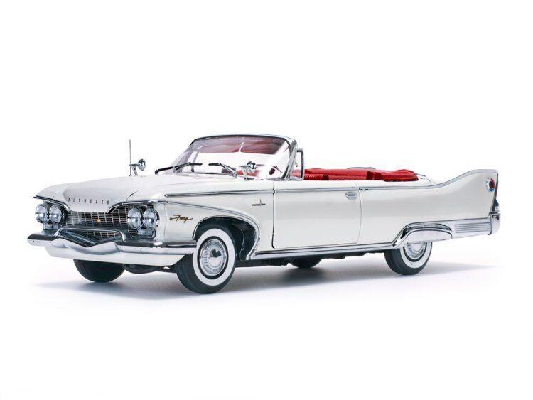 2018 Plymouth Fury Convertible En Blanco Ostra en  Modelo Diecast