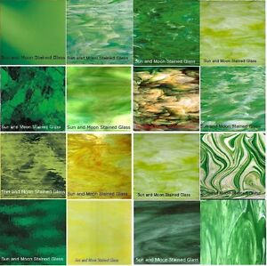 Green Stained Glass Sheets - Available in Variety Green Colors (8x10 ...