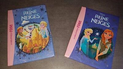 La Reine des Neiges Lot de 2 livres la magie des souvenirs et le rêve d'Olaf TBE