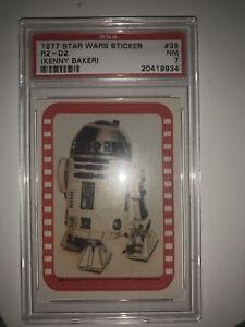 1977-Star-Wars-Sticker-R2-D2-kenny-Baker-Psa-7