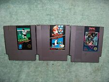 Lot of (3) Vintage 1985 USED NES Nintendo Games Super Mario Bros-Tennis-Trojan