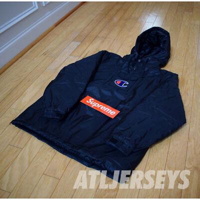 🔥🔥🔥 Supreme Champion Black Pullover Parka Size Large L SS18