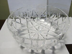 WATERFORD-CRYSTAL-CHOICE-OLD-ACID-STAMP-LARGE-10-WIDE-BOWL-XLNT-COND