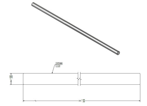 Precision Cut  GCr15  Shafting    Shaft size 10mm Shaft length 600