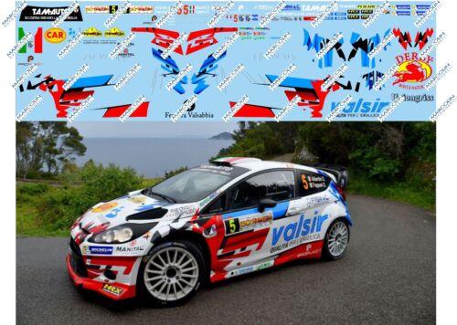 Rally Elba 2017 DECALS 1//43 FORD FIESTA WRC ALBERTINI-FAPPANI 1° ass