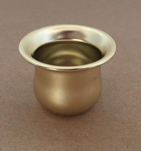 BRASS PLATED STEEL CANDLE CUPS NEW STOCK
