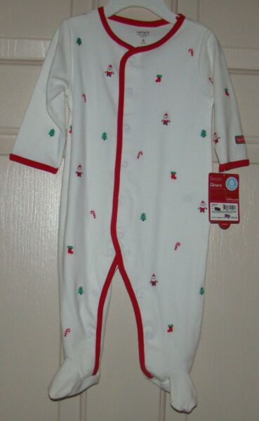 carters size 6 months unisex sleep play christmas pajamas nwt