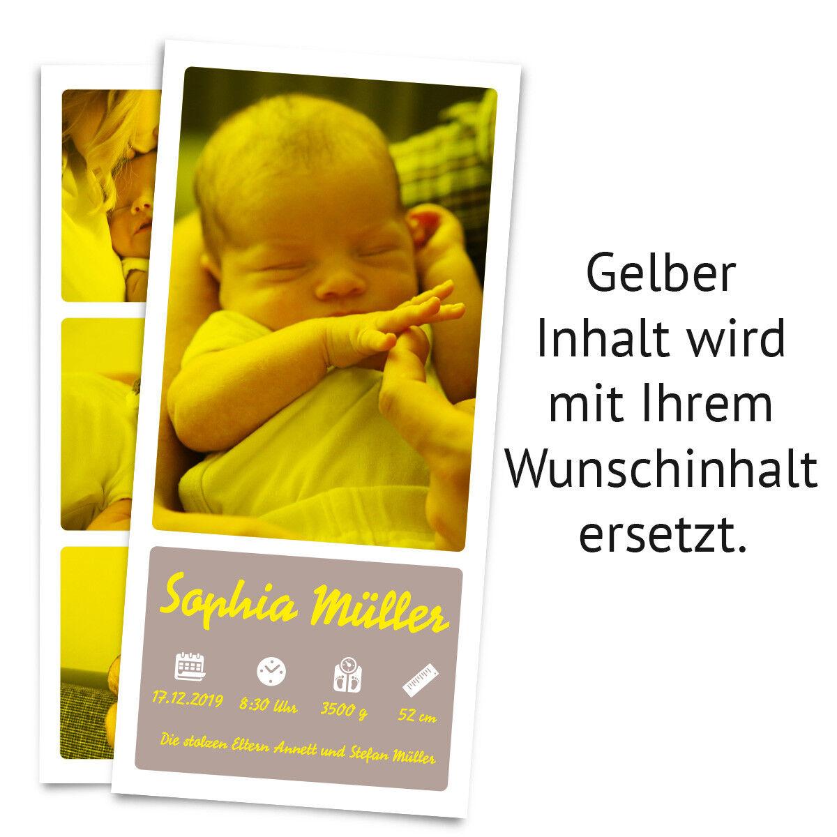 Geburt Geburt Geburt Danksagungskarten Geburtskarten individuell Fotos Text - Fotostreifen 77212b