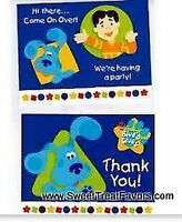Blues Clues Party Supplies Invitations Thank Notes Favor Birthday Dog Decoration
