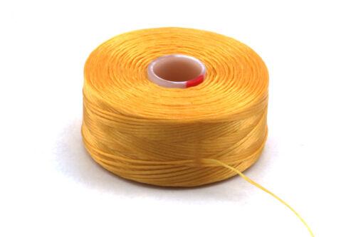 1 Rolle C-Lon Garn Golden Yellow ø0,30mm flexibles Perlengarn Fädelarbeiten