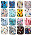 1 KaWaii Baby One Size Goodnight Heavy Wetter Cloth Diaper +1 BAMBOO Insert