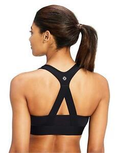 Brand-Core-10-Women-039-s-Plus-Size-Cross-Back-Sports-Bra-Black-Size-1-0