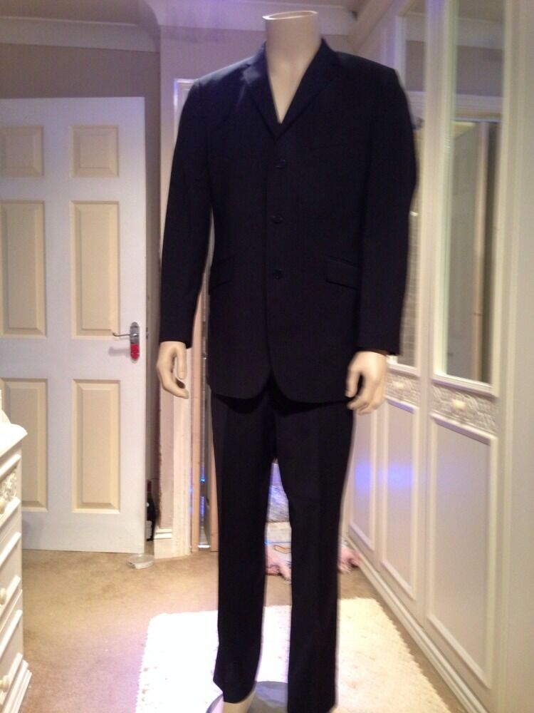Mens Navy bluee Pinstripe Two Piece Suit