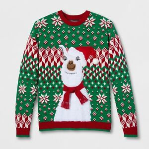 Llama Christmas Sweater.Details About 33 Degrees Men S Santa Llama Ugly Christmas Sweater M