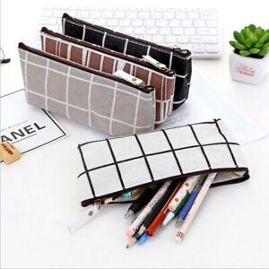 Students-Pencil-Pen-Case-NEW-Storage-Pouch-Zipper-Purse-Cosmetic-Makeup-Bag