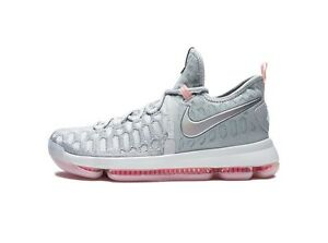 Nike-KD-9-034-Pre-Heat-034-LMTD-843396-090-Size-8-13-LIMITED-100-Authentic-Grey-Pink