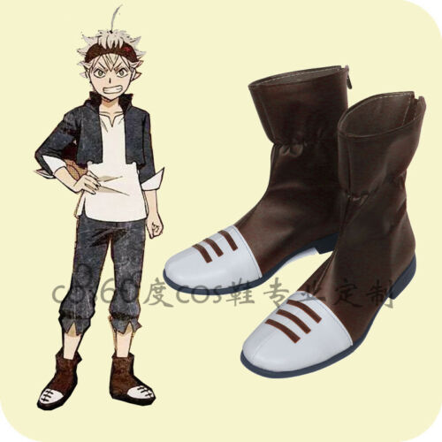Anime Black Clover Asta Black Cattle Team cosplay shoes Boots Custom Made