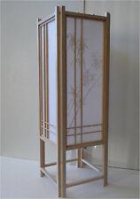 "Asian Home Deco Natural Wood Frame Shoji Bamboo 23"" Tatami Table Lamp/Bed Room"