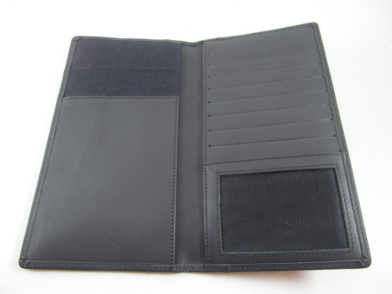 CLAVA American leather black wallet credit card organizer 8