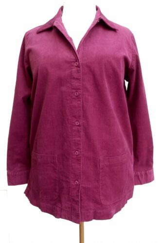 Jacket SIZES S-XL UK 8-22 Raspberry Pink Stretch Needle Cord Shirt
